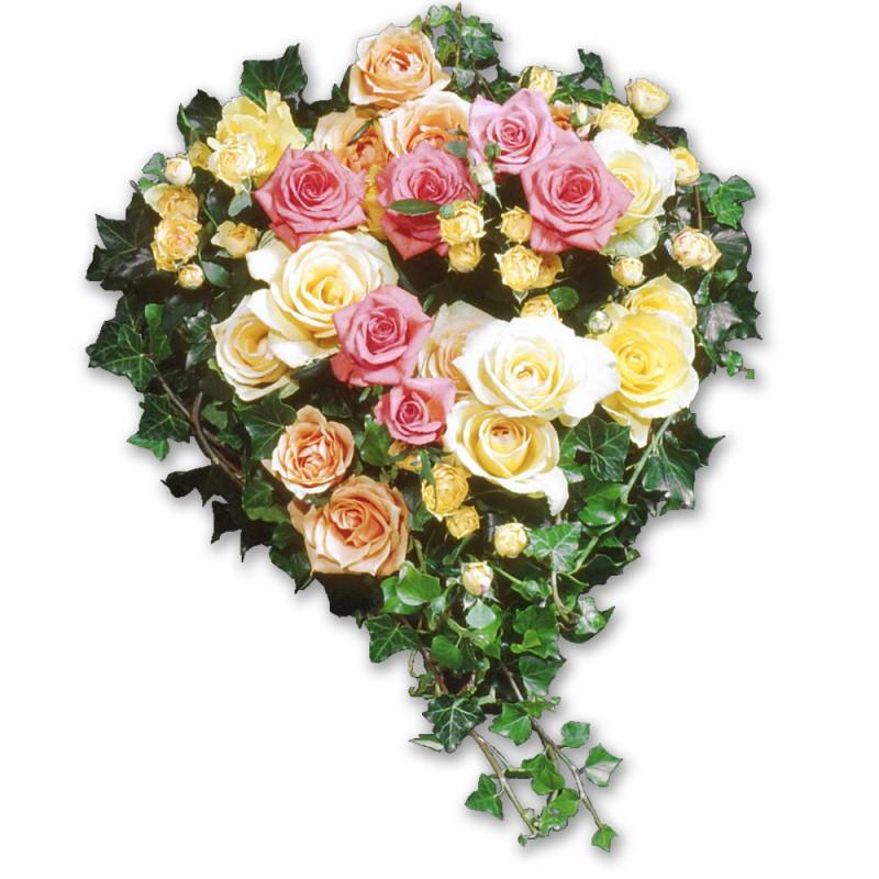 Coeur De Fleurs Deuil La Reunion Coeur De Roses