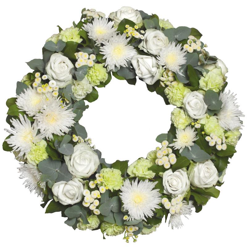 Couronne de fleurs enterrement